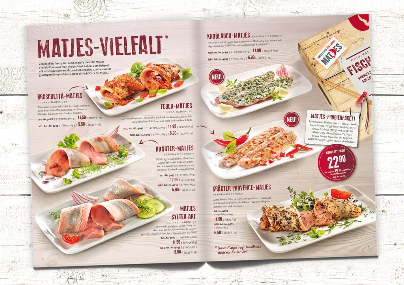 """CD-Entwicklung und Markenführung für """"GOSCH Sylt"""": Promotion-Aktionen; z.B. im Versandmagazin von GOSCH"""
