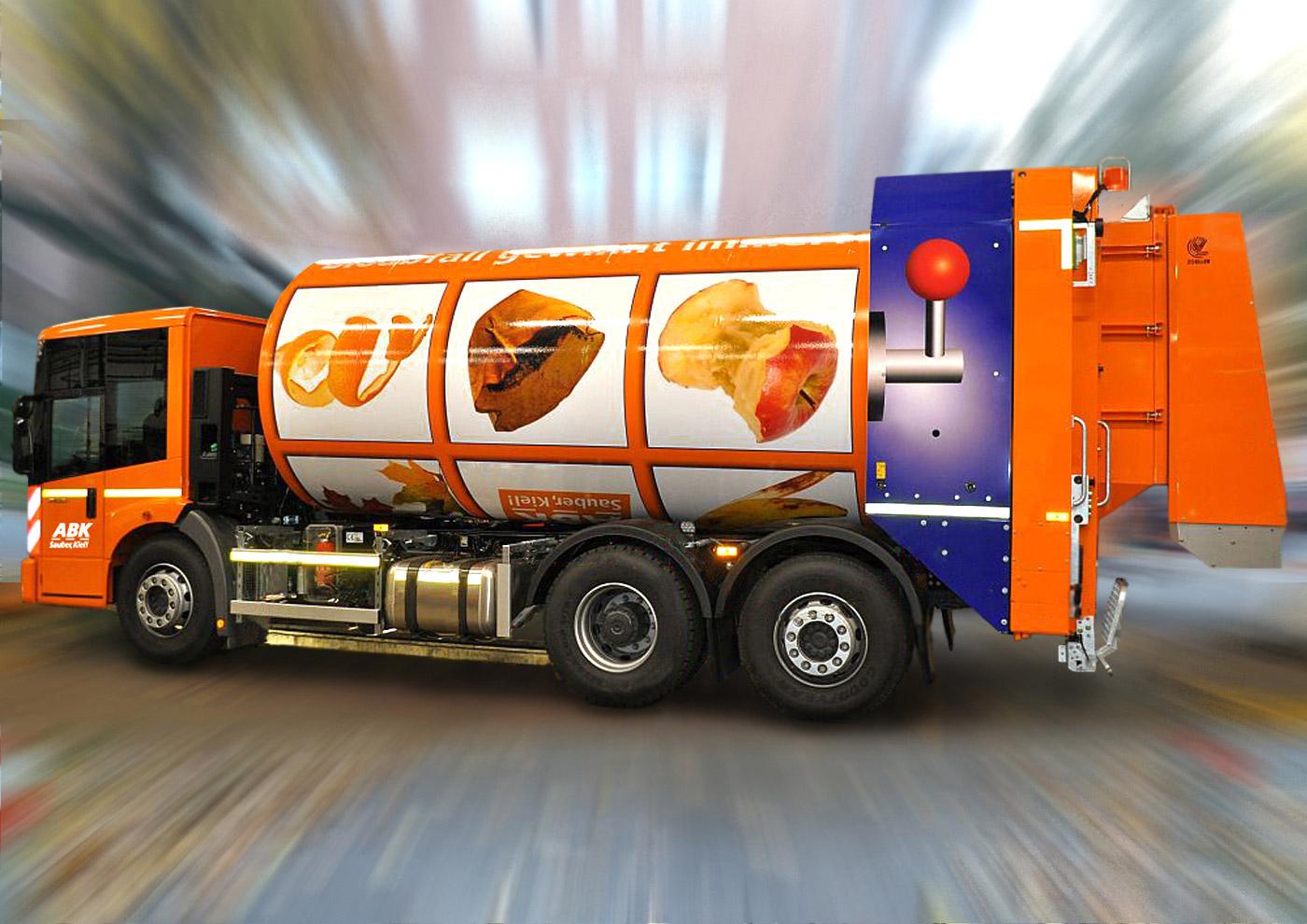 Gestaltung eines Drehtrommelfahrzeugs: Bioabfall gewinnt immer!