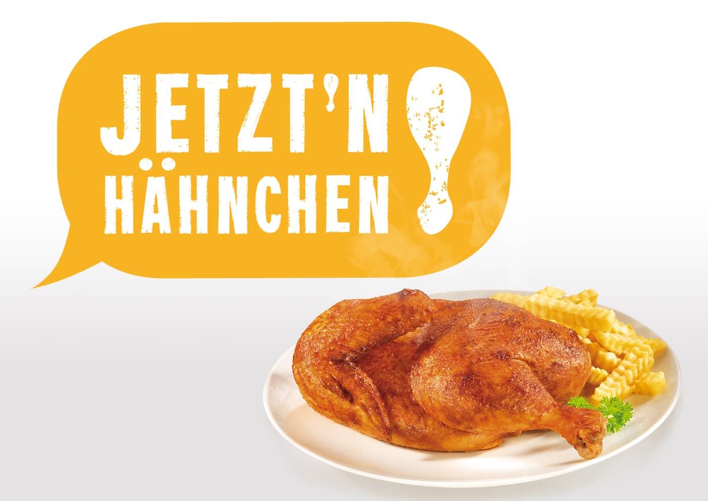 """Markenentwicklung und -betreuung für """"Jetzt 'n Hähnchen!"""""""