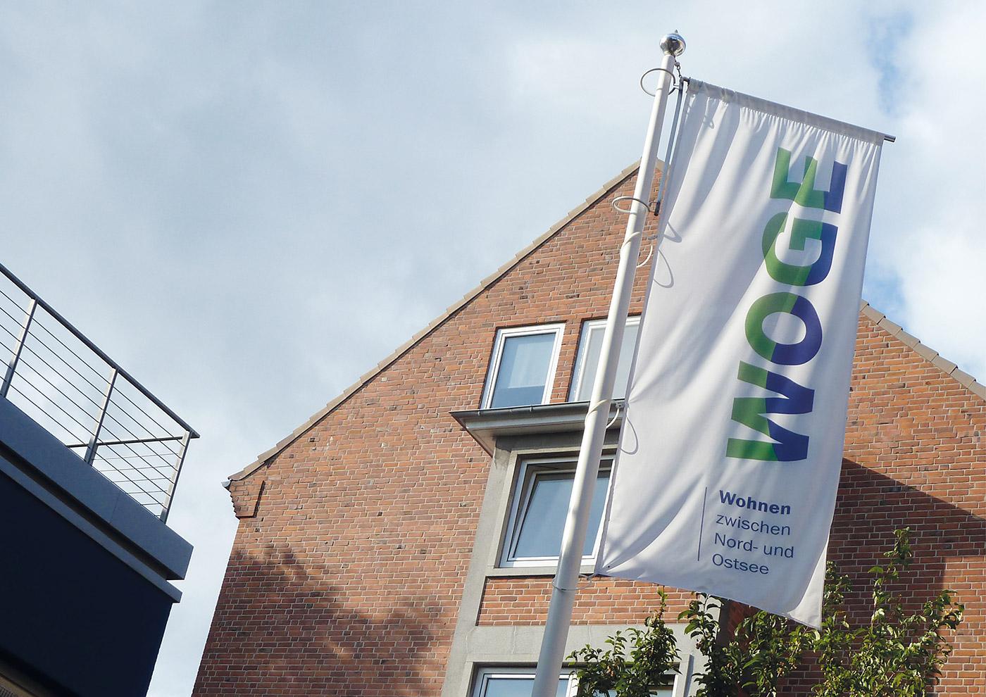 Corporate Design und Kommunikation für die WOGE Kiel: Ausstattung