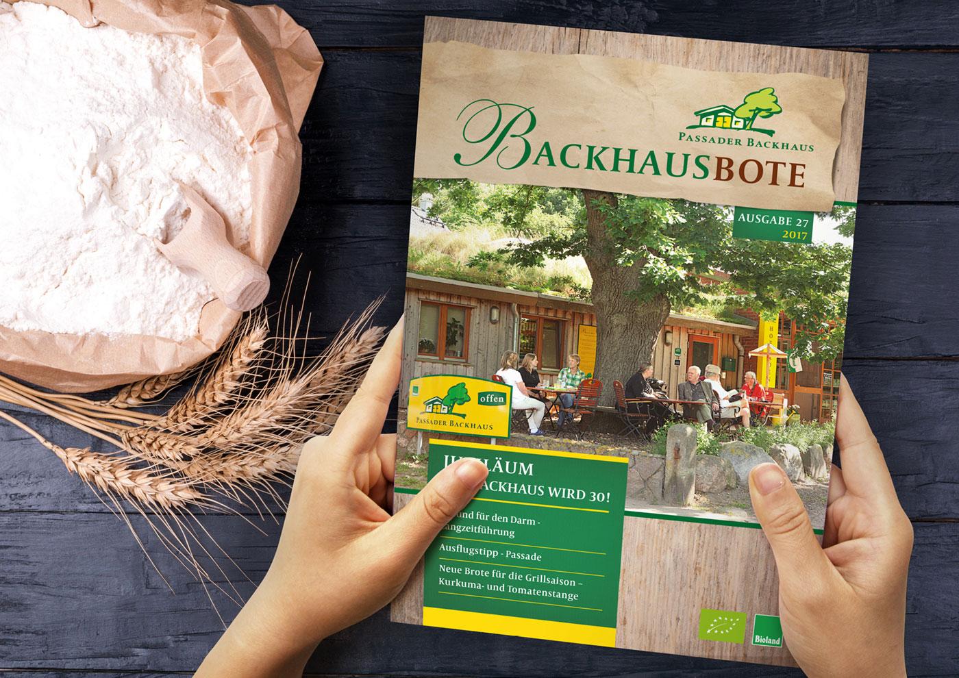 Markenführung für die Biobäckerei Passaader Backhaus: Kundenmagazin